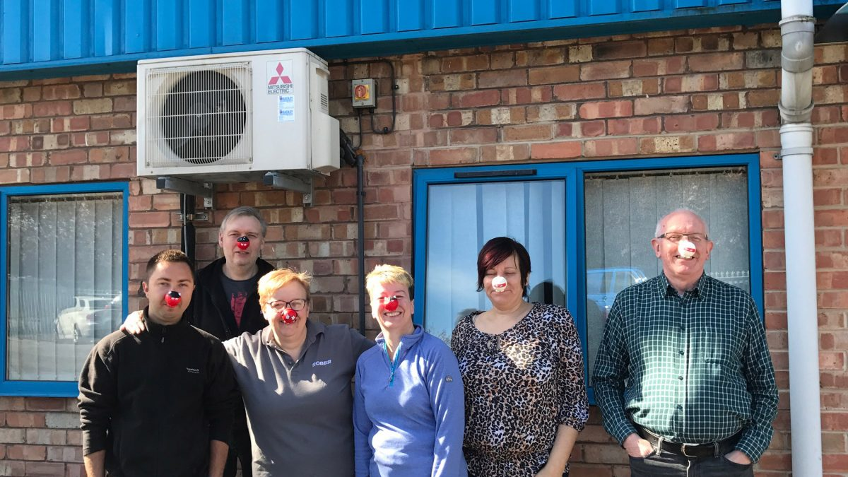 Team Rober wearing their red noses