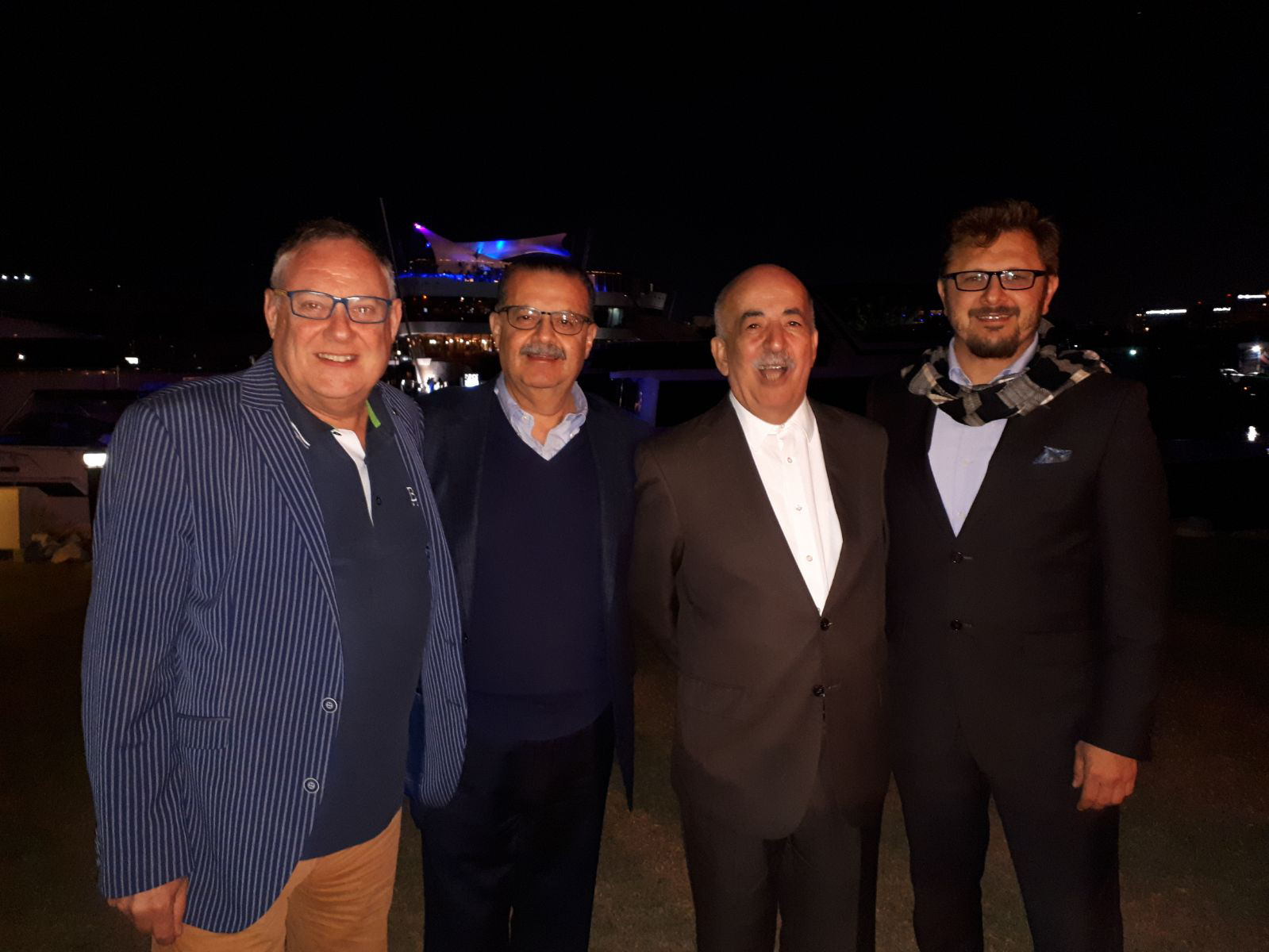 CEO Mike Hutson with Rober's UAE partner Amms.